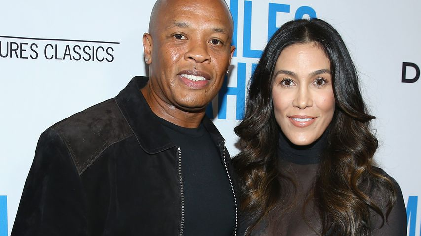 """Dr. Dre und Nicole Young bei der """"Miles Ahead""""-Premiere in Beverly Hills im März 2016"""