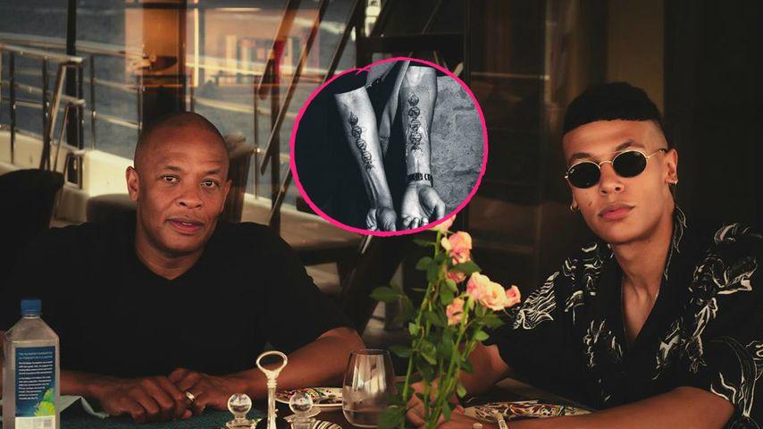 Dr. Dre lässt sich Partner-Tattoo mit seinem Sohn stechen