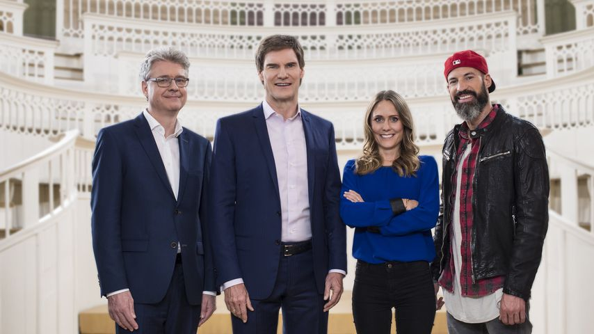 "Dr. Klaus Schieble, Carsten Maschmeyer, Lea Lange und Matthew Mockridge, ""Start Up!""-Experten"