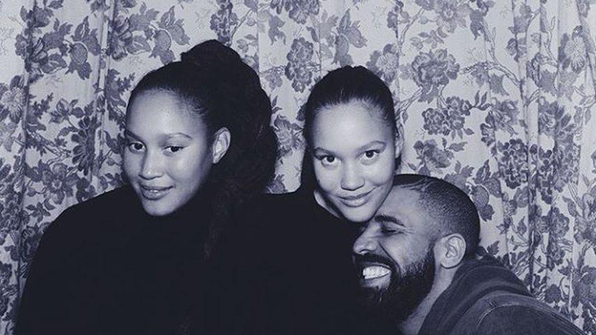 Valentinstag ohne JLo: Drake beim Dinner mit Model-Twins