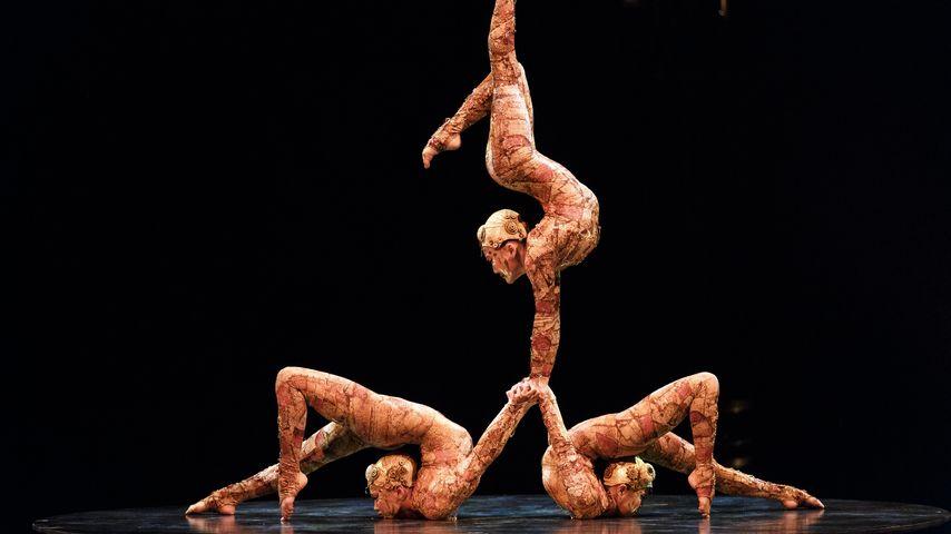 Akrobatinnen des Cirque Du Soleil