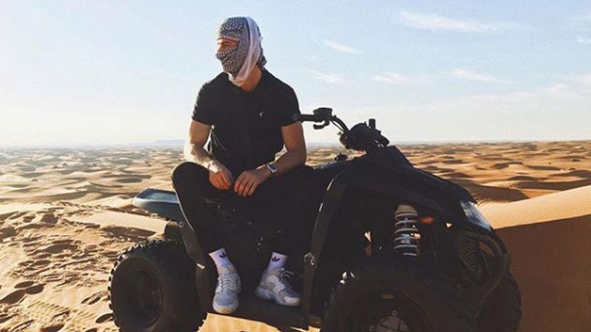 Dustin Schöne in der Wüste
