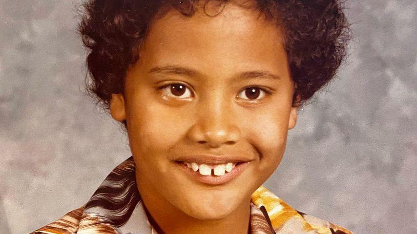 Dwayne Johnson im Alter von sieben Jahren