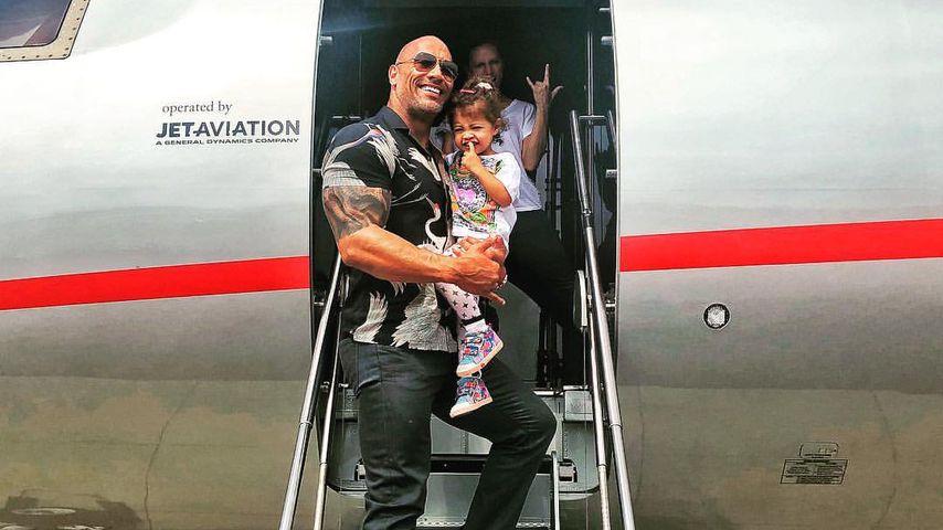 Dwayne Johnson, Lauren Hashian und ihre Tochter Jasmine