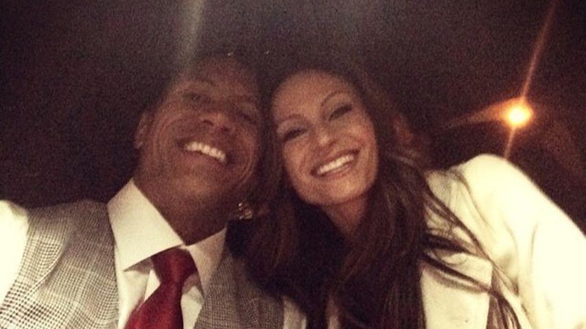 Dwayne Johnson und Lauren Hashian, 2014