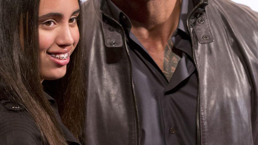 """Dwayne """"The Rock"""" Johnson mit seiner Tochter Simone"""