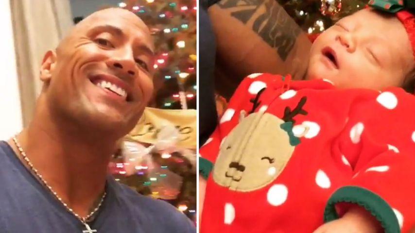 """Zu X-Mas im Vaterglück: """"The Rock"""" singt für Baby Jasmine"""