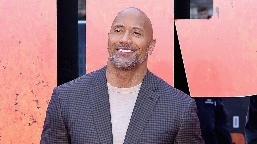 """Dwayne """"The Rock"""" Johnson auf einer Filmpremiere in London"""