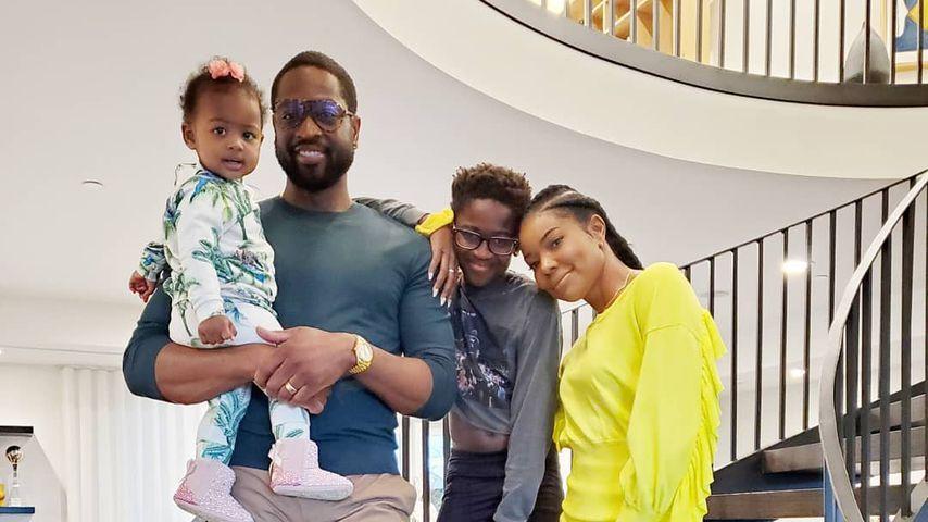 Dwayne Wade mit seiner Familie an Thanksgiving 2019
