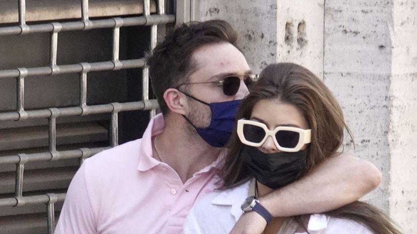 Ed Westwick mit seiner Freundin Tamara Francesconi in Rom, Juni 2021