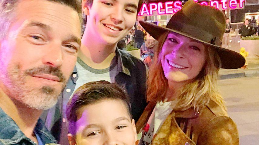 Eddie Cibrian mit seinen Söhnen Mason und Jake und seiner Frau LeAnn Rimes