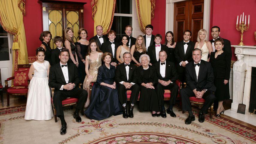 Die Familie Bush in Washington DC im Januar 2005