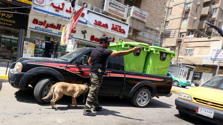 Ein irakischer Polizist in Bagdad