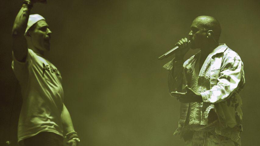 Umstrittener Festival-Gig: Comedian stürmt Kanye Wests Bühne