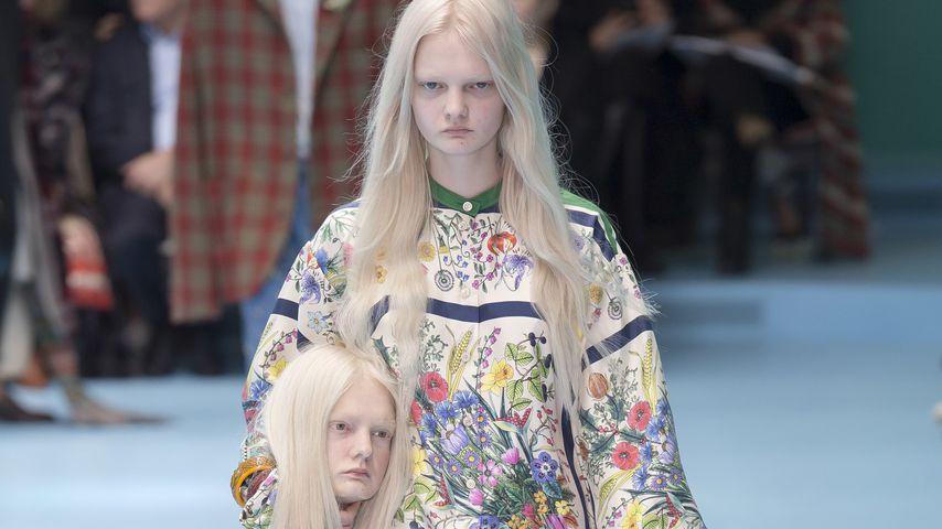 Grusel-Fashionshow: Models trugen ihre eigenen Köpfe!