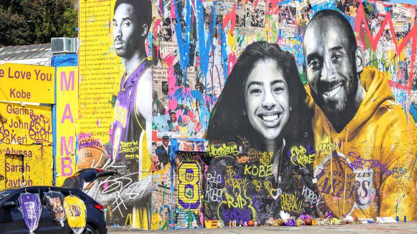 Ein Porträt von Gianna und Kobe Bryant