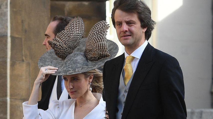 Ekaterina und Ernst August Erbprinz von Hannover bei der Hochzeit von Prinzessin Eugenie