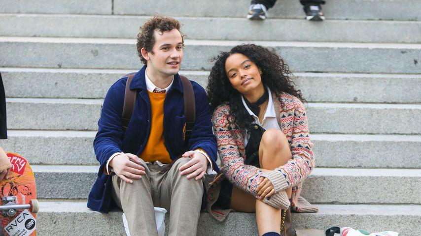 """Eli Brown und Whitney Peak am Set des """"Gossip Girl""""-Reboots"""