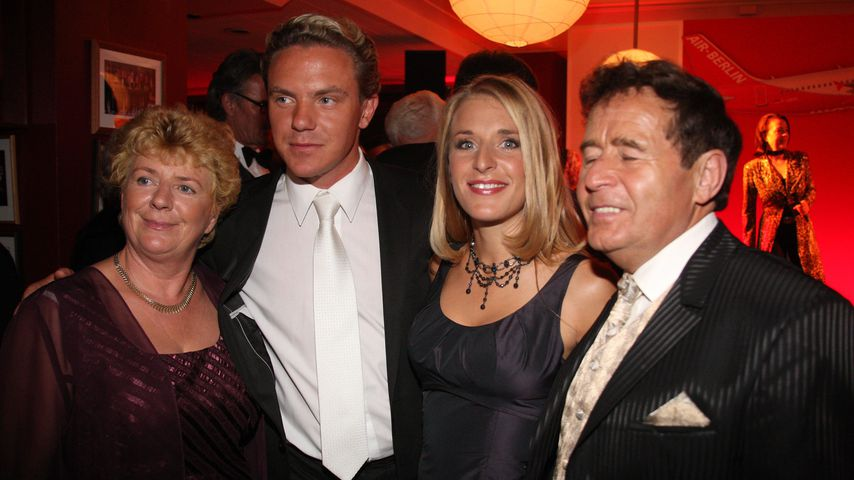 Elisabeth Hertel, Stefan Mross, Stefanie Hertel und Eberhard Hertel bei der Goldenen Henne 2007