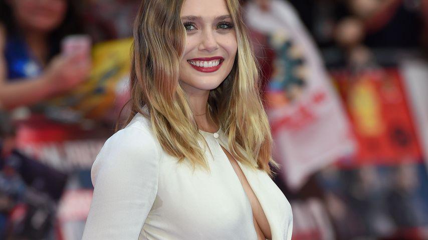 """Sexy Bein-Show: Elizabeth Olsen am """"Captain America""""-Set"""