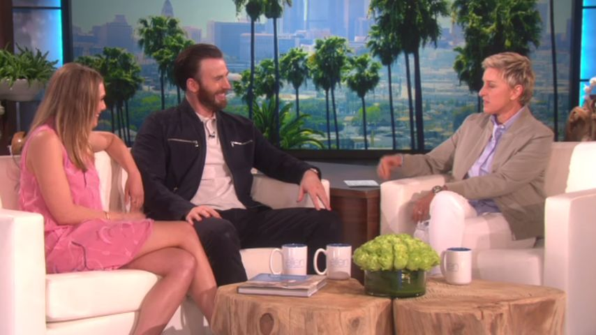 Elizabeth Olsen, Ellen DeGeneres und Chris Evans