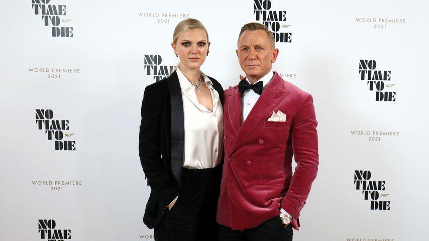 Selten! Daniel Craig mit seiner Tochter bei Bond-Premiere