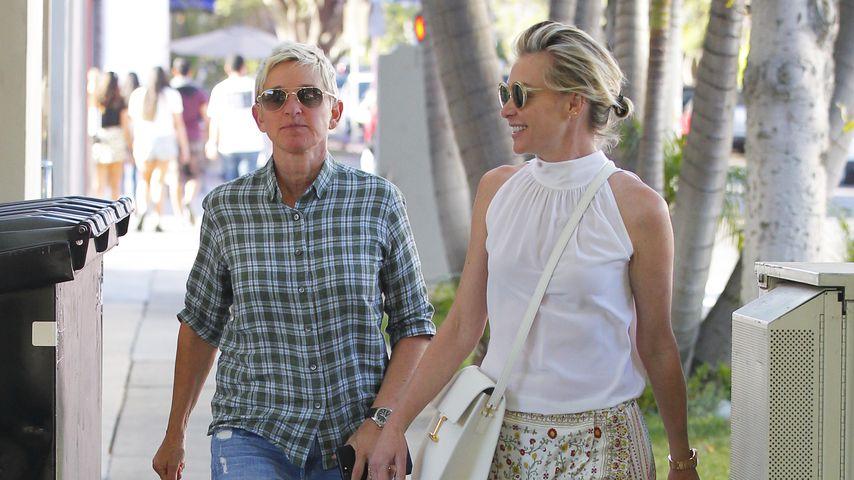 Ellen DeGeneres und Portia de Rossi spazieren durch West Hollywood