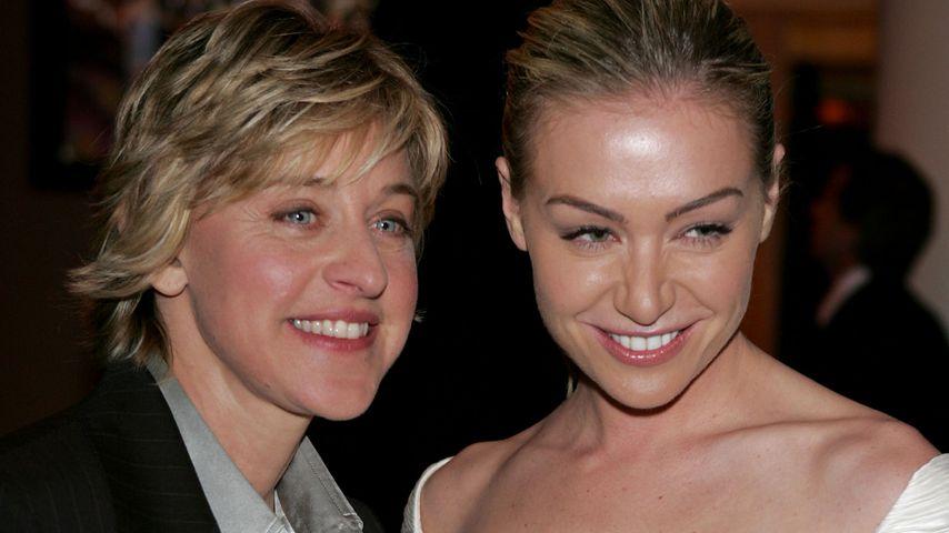Ellen DeGeneres und Portia de Rossi bei einer Golden Globes-Party 2005