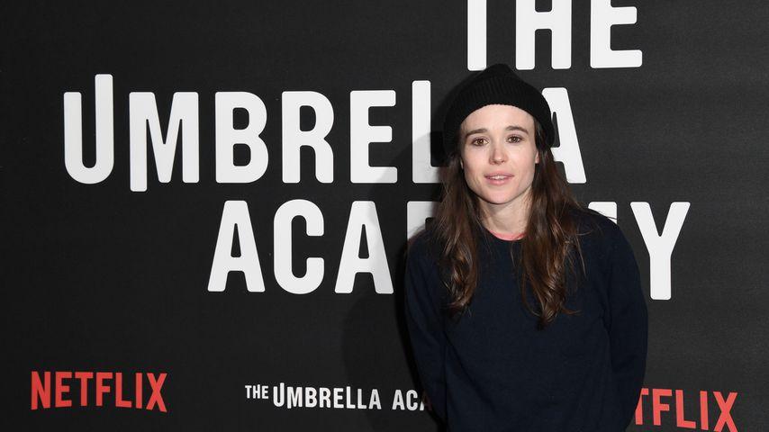 """Elliot Page bei einem Fototermin zur Netflix-Serie """"The Umbrella Academy"""""""