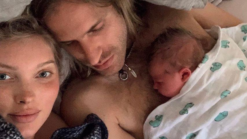 Elsa Hosk mit ihrem Freund Tom Daly und ihrer Tochter Tuulikki Joan