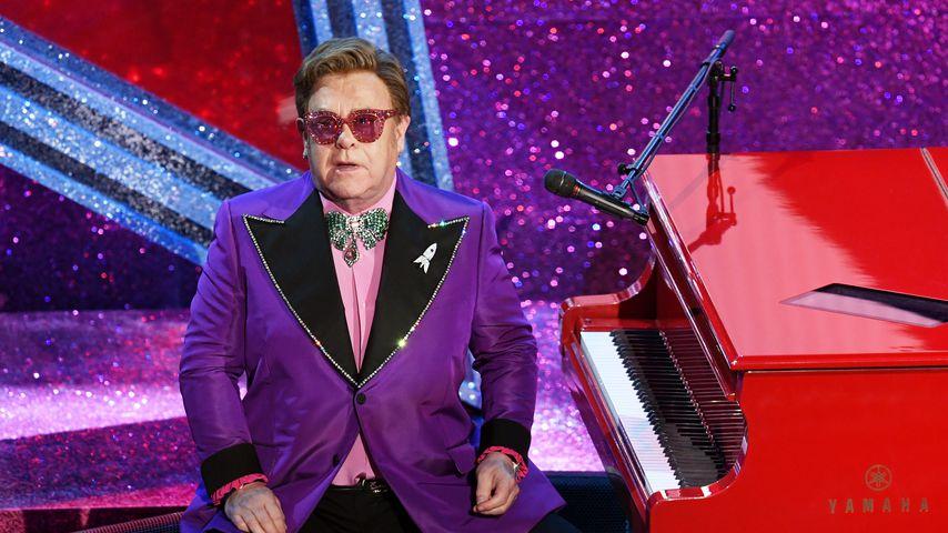 Elton John während seines Konzerts bei den Academy Awards 2020