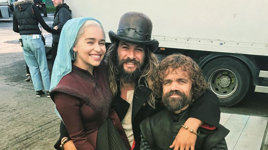 "Emilia Clarke, Jason Momoa und Peter Dinklage am ""Game of Thrones""-Set"