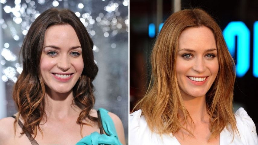 emily blunt mit neuer frisur von braun zu blond. Black Bedroom Furniture Sets. Home Design Ideas
