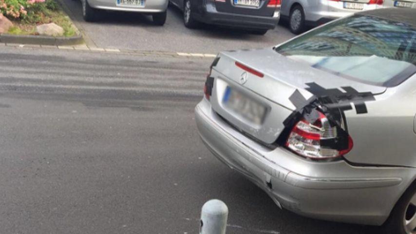 Eren Can Bektas' Auto nach einem Autounfall im Juli 2016