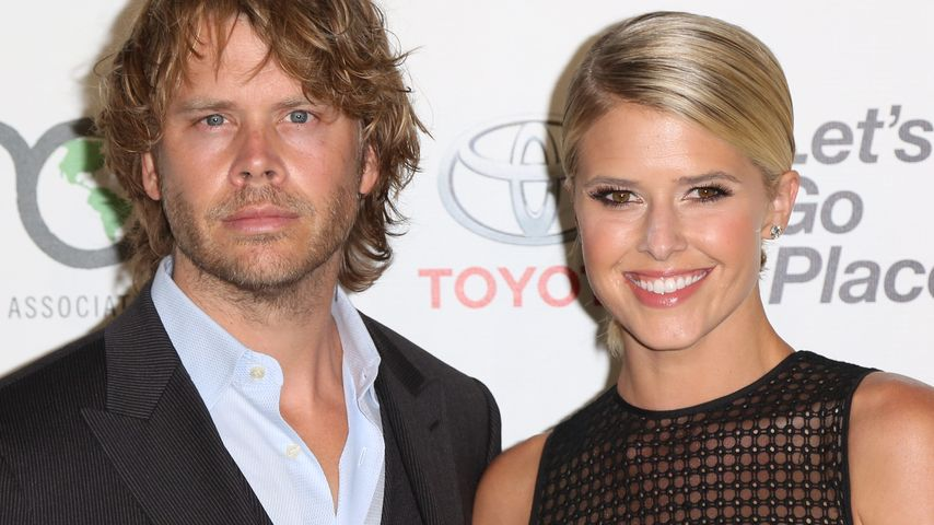 Eric Christian Olsen mit seiner Frau Sarah Wright Olsen