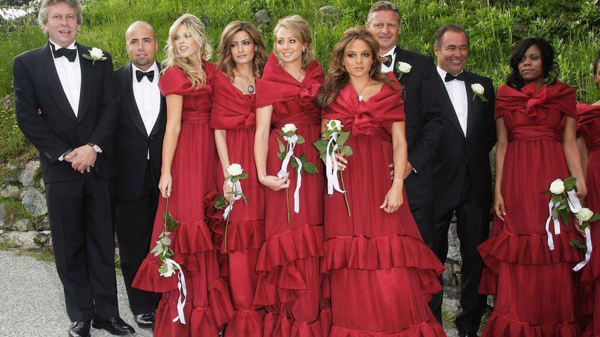 Estefania Küster (6. v. li.) bei der Hochzeit von Lilly und Boris Becker