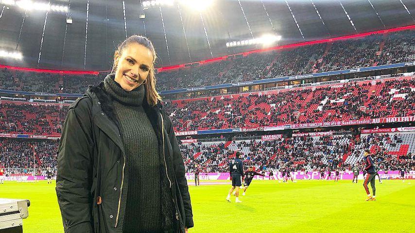 Esther Sedlaczek in der Allianz Arena