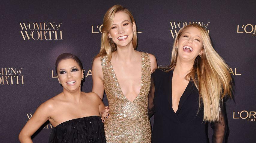 Eva Longoria, Karlie Kloss und Blake Lively im November bei einer L'Oreal-Veranstaltung in New York