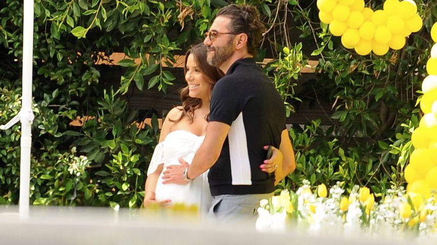Baby-Shower! Schauspielerin Eva Longoria feiert in Weiß