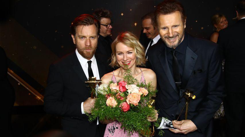Ewan McGregor, Naomi Watts und Liam Neeson bei der Goldenen Kamera 2018
