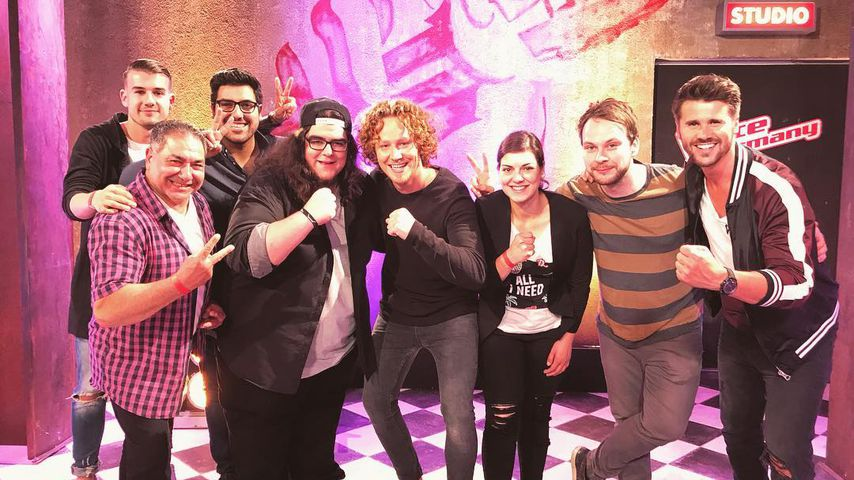 "Fabian Riaz mit Michael Schulte bei ""The Voice of Germany"""