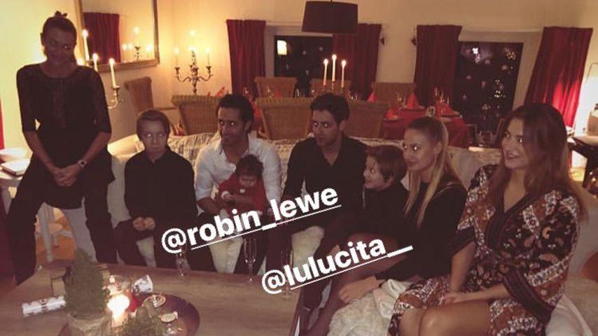 Sarah Connor mit ihrer Familie an Weihnachten 2018