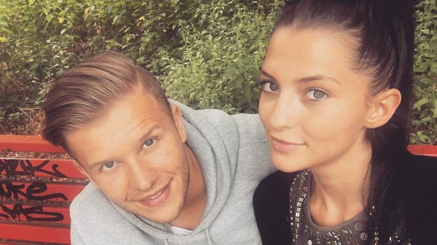 Fata Hasanović mit ihrem Verlobten Dino Zukic