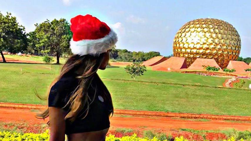 Fernanda Brandao in ihrem Indien-Urlaub