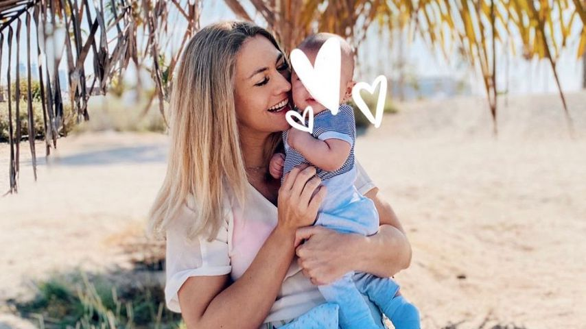 Fiona Erdmann mit ihrem Sohn Leo Luan, November 2020