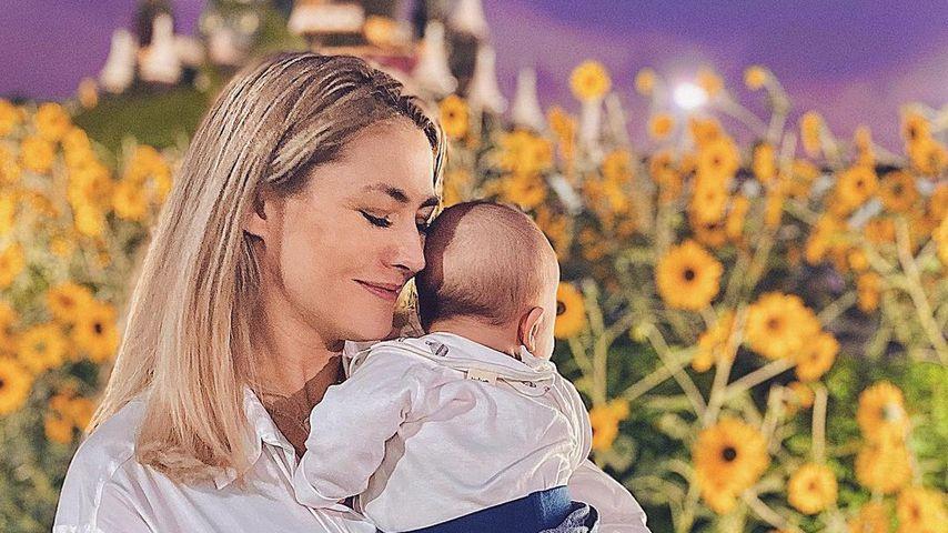 Fiona Erdmann und ihr Sohn Leo Luan