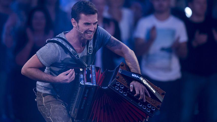 Florian Silbereisen mit Akkordeon