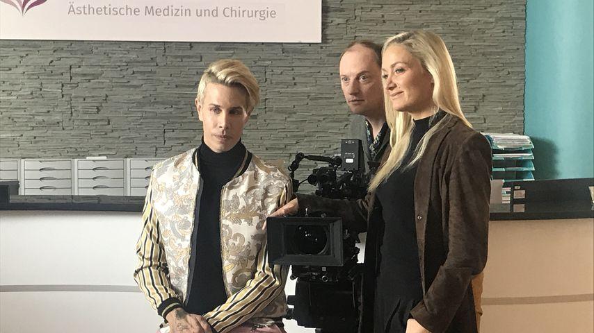 Florian Wess und Janine Kunze bei den Dreharbeiten