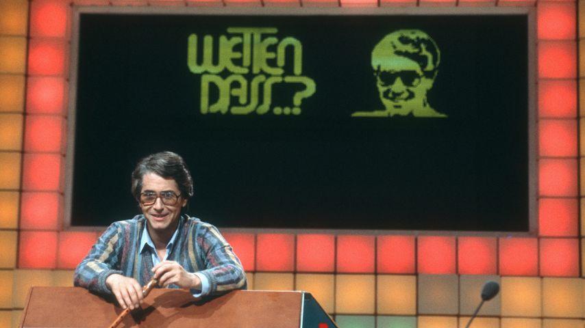 """Frank Elstner moderiert """"Wetten, dass..?"""", 1981"""