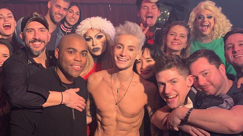 Frankie Grande mit Freunden im Dezember 2018